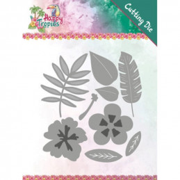 Dies - Yvonne Creations - Happy tropics - Fleurs tropicales