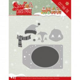 Dies - Yvonne Creations - Sweet christmas - Etiquettes Pingouins