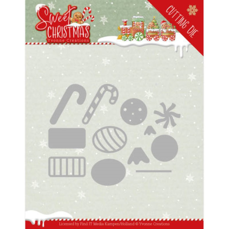 Dies - Yvonne Creations - Sweet christmas - Candy