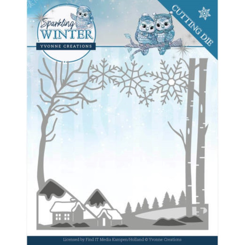 Dies - Yvonne Creations - Sparkling winter - Paysage hiver
