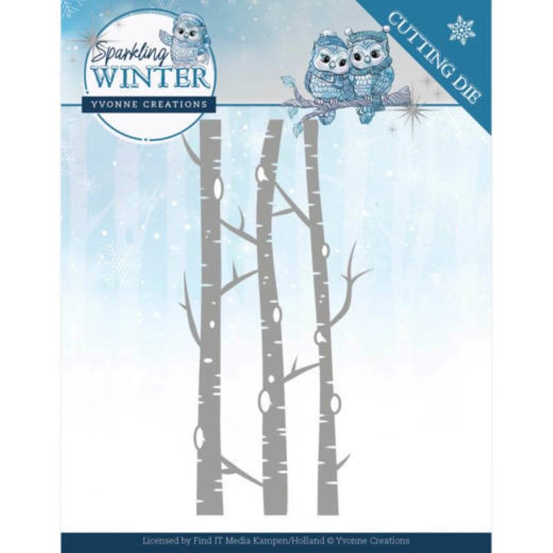 Dies - Yvonne Creations - Sparkling winter - Arbres en hiver