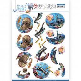 Carte 3D prédéc. - SB10454 - Underwater World - Plongée sous marine
