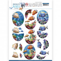 Carte 3D prédéc. - SB10456 - Underwater World - Poissons marins