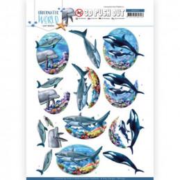 Carte 3D prédéc. - SB10457 - Underwater World - Dauphins Orques et requins