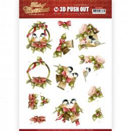 Carte 3D prédéc. - SB10460 - Touch of Christmas - Oiseaux de Noël