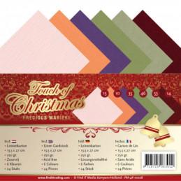 Set 24 cartes Touch of christmas 13.5x27cm