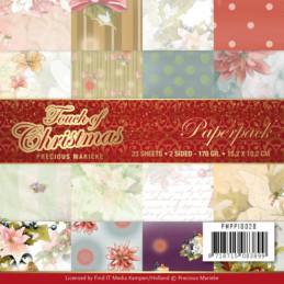 Bloc de papier - precious marieke - Touch of Christmas 15.2 x 15.2 cm