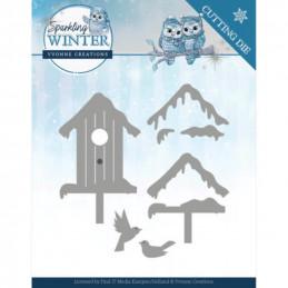 Dies - Yvonne Creations - Sparkling winter - Nichoirs enneigés