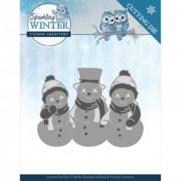 Dies - Yvonne Creations - Sparkling winter - Bonhommes de neige