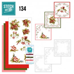 Stitch and do 134 - kit Carte 3D broderie - Une touche de Noël