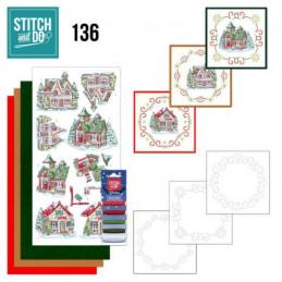 Stitch and do 136 - kit Carte 3D broderie - Villages