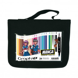 Graph'it trousse de 24 marqueurs - Manga colors