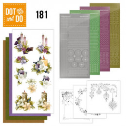 Dot and do 181 - kit Carte 3D  - Bougies de Noël