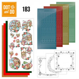 Dot and do 183 - kit Carte 3D  - Village de Noël