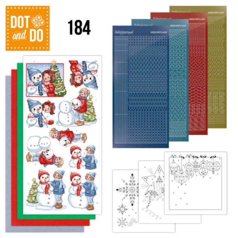 Dot and do 184 - kit Carte 3D  - Bubbly girls à Noël