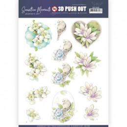 Carte 3D prédéc. - SB10466 - Sensitives moments - Fleurs roses