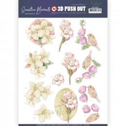 Carte 3D prédéc. - SB10468 - Sensitive moments - Fleurs roses
