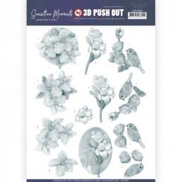 Carte 3D prédéc. - SB10469 - Sensitive moments - Freesia grises