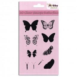 Tampon clear à superposer papillons 4,5x3,5 cm
