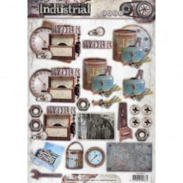 Carte 3D prédéc. - n°417 - Industriel outils