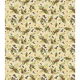 Papier patch 3 feuilles 35x40 cm Houx vintage
