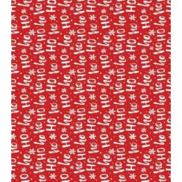 Papier patch 3 feuilles 35x40 cm Ho Ho rouge