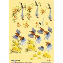 Carte 3D à découper - PARRA 14 - 2 oiseaux
