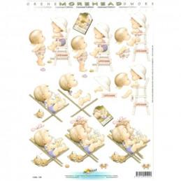 Carte 3D à découper - 11052109 - Fillette maillot de bain