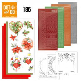Dot and do 186 - kit Carte 3D  - Houx de Noël