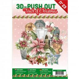 Carte 3D livre A4 prédécoupé - Une Touche de Noël  24 images + papiers
