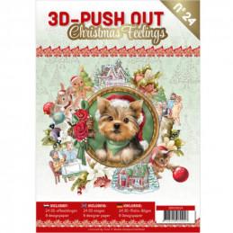 Carte 3D livre A4 prédécoupé - Sentiments de Noël  24 images + papiers