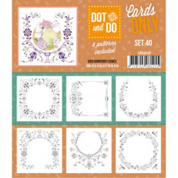 Dot and do Cartes n°40 - Lot de 6 Cartes seules
