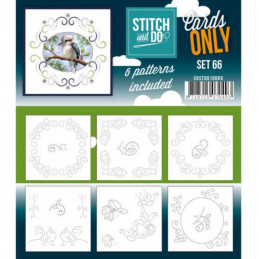Cartes seules Stitch and do  - Set n°66