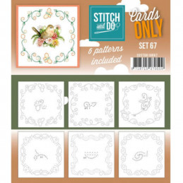 Cartes seules Stitch and do  - Set n°67