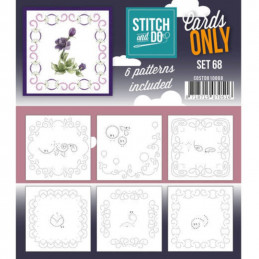 Cartes seules Stitch and do  - Set n°68