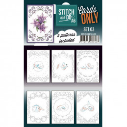 Cartes seules Stitch and do A6 - Set n°03