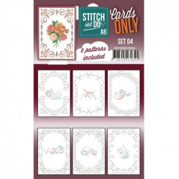 Cartes seules Stitch and do A6 - Set n°04