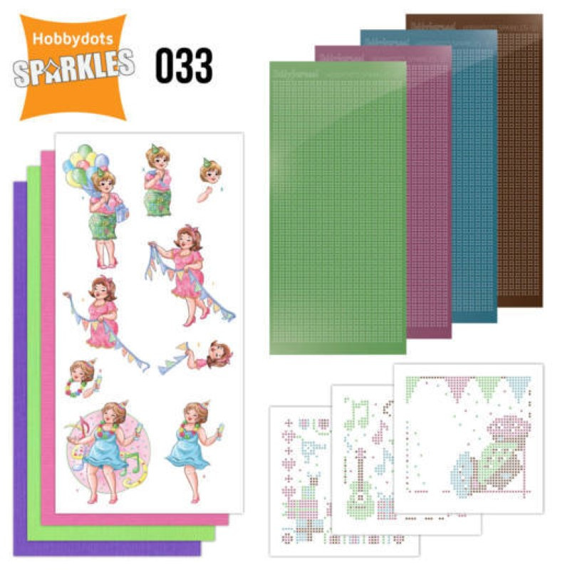 Kit Sparkles Set 33 - Bubbly girls surprise party