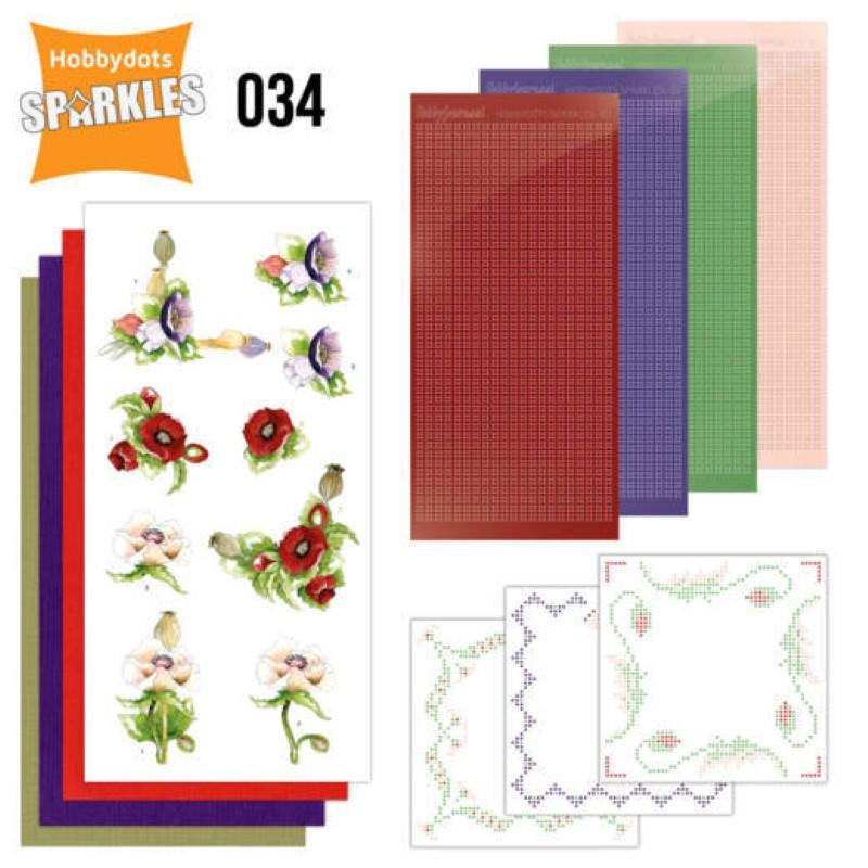 Kit Sparkles Set 34 - Fleurs délicates Pavots