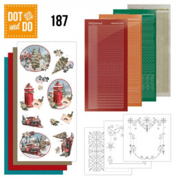 Dot and do 187 - kit Carte 3D  - Train de Noël