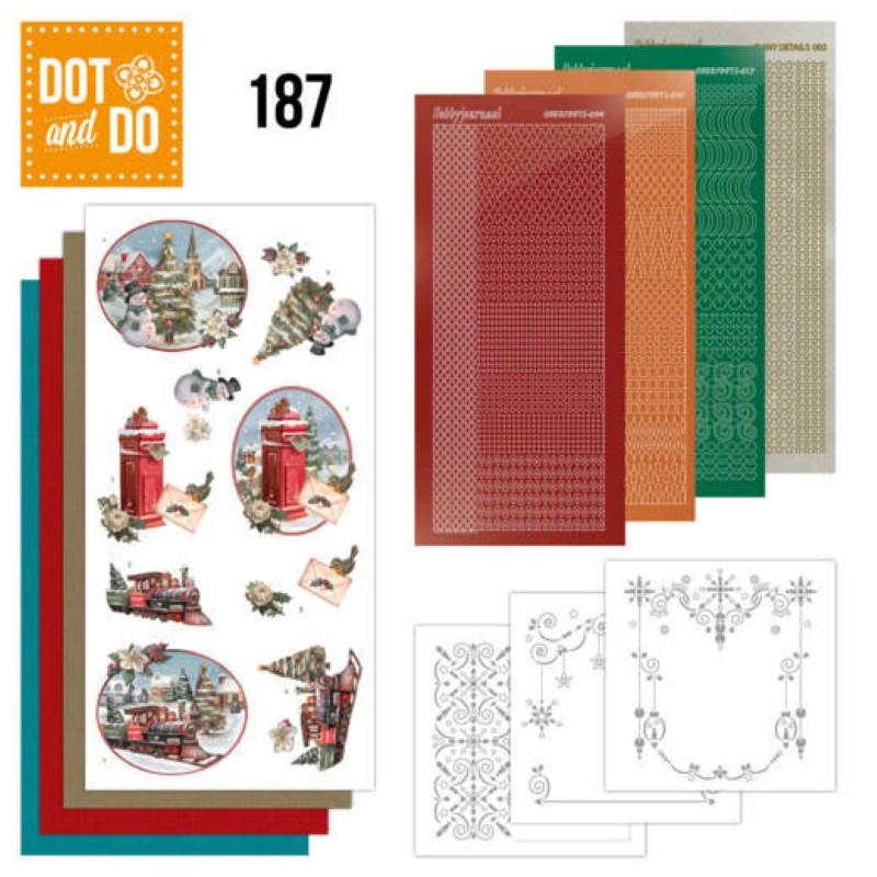 Dot and do 187 - kit Carte 3D  - Train de Noël