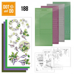 Dot and do 188 - kit Carte 3D  - Boules de Noël mauves