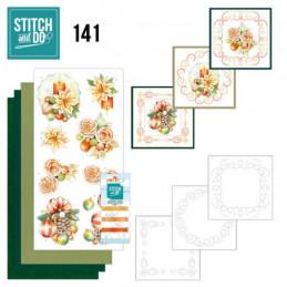 Stitch and do 141 - kit Carte 3D broderie -  Boules de Noël