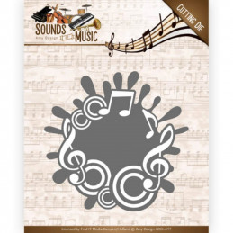 Die - ADD10135 - sounds of music - Label de mpusique 8.3 x 8.4 cm