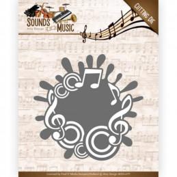 Die - ADD10135 - sounds of music - Label de mpusique 8.3 x 8.4 cm