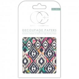 Papier patch 3 feuilles 35x40 cm retro 4
