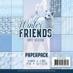 Bloc de papier - Amy Design - Winter friends 15.2 x 15.2