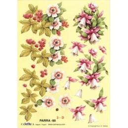 Carte 3D à découper - PARRA 90 - Fleur clochettes