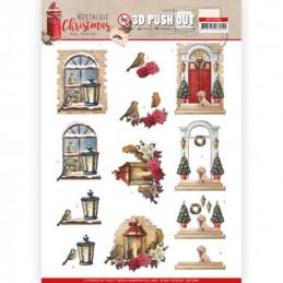 Carte 3D prédéc. - SB10484 - Nostalgic Christmas - Noël chaleureux