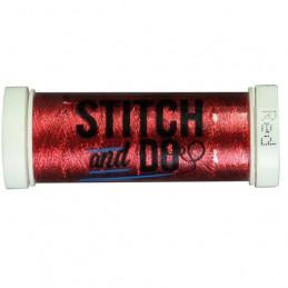 Fils à broder Stitch and Do Métal Rouge bobine de 200m